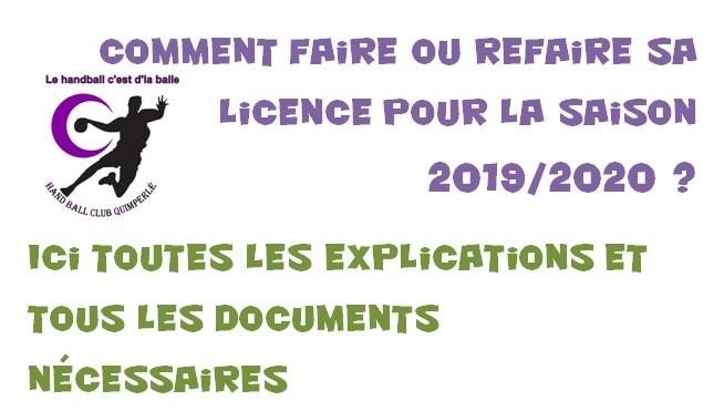Faire sa licence 2019/2020